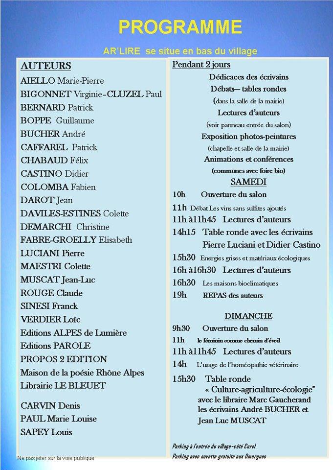Salon Ar'Lire - Montfroc